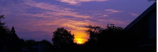 Wschód słońca w Chicago