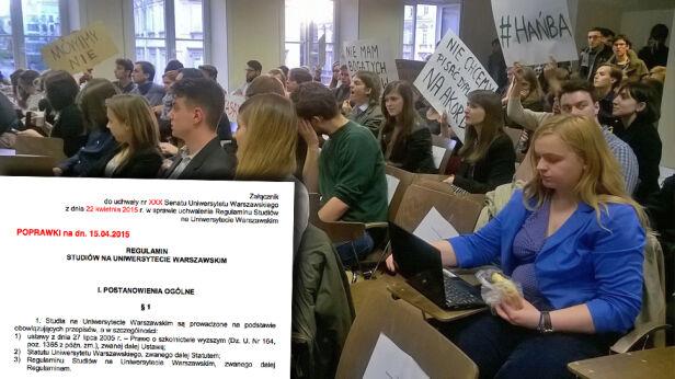 Studentom nie podobają się zmiany w regulaminie studiów Koło Naukowe Socjologii Publicznej