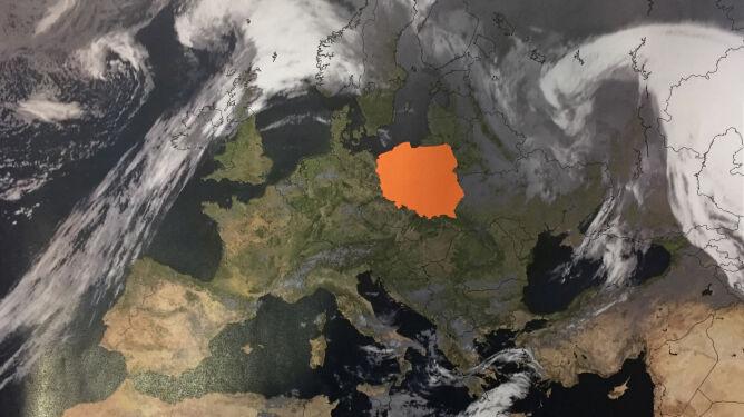 Zachmurzenie nad Europą