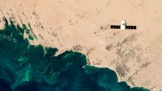 Statek kosmiczny nad Manifa w Arabii Saudyjskiej