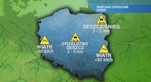Warunki drogowe we wtorek 25.02